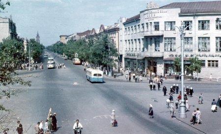 Воронеж 1960-х на цветных фото
